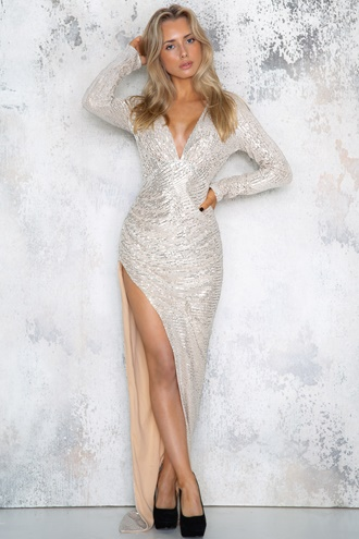 Enchanted Sequin Dress - Silver