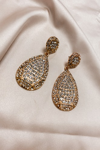Golden Rhinestone Earrings