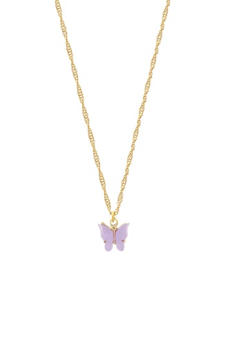 Butterfly Necklace - Lavender