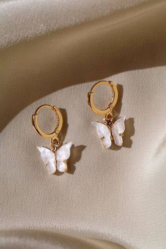 Butterfly Earrings - Pearl