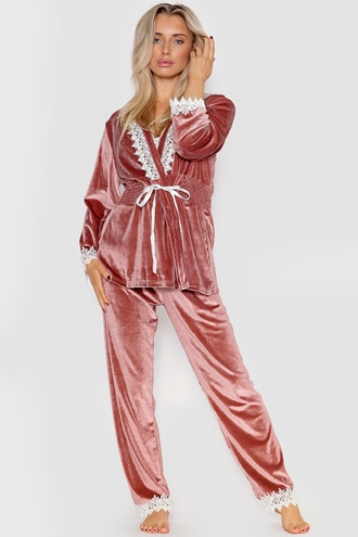 Pajamas Set - Nude Pink