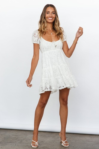 White dress - Linda
