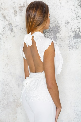 White peplum top - Charo