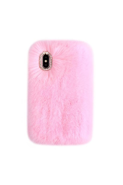 Mobilskal för iPhone - Light Pink Cozy Fur