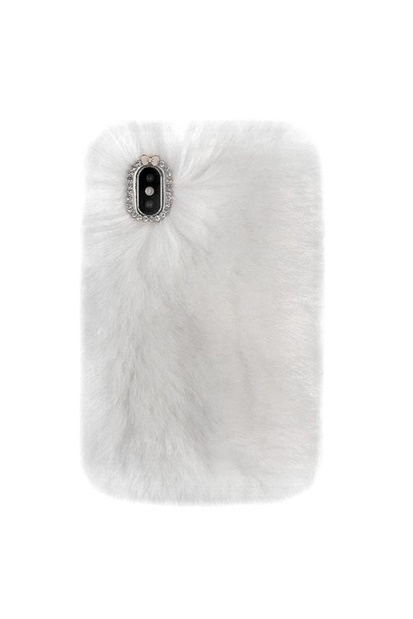 Mobilskal för iPhone - White Cozy Fur
