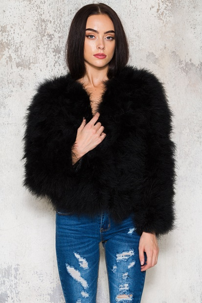 Black feather jacket - Dream