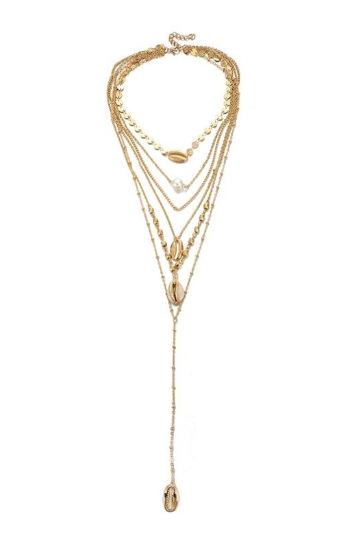 DM Gold necklace - Seashell