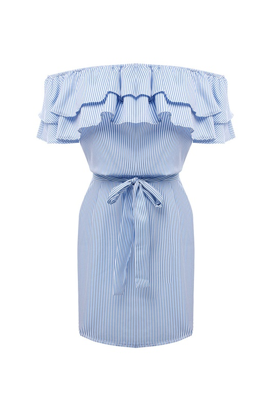 DM Maddie Dress - Blue/White