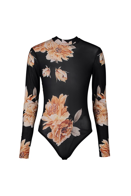 DM Floral Body - Black