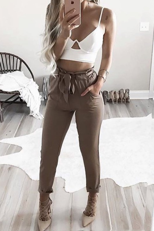 DM Basic Freya Pants - Coffee