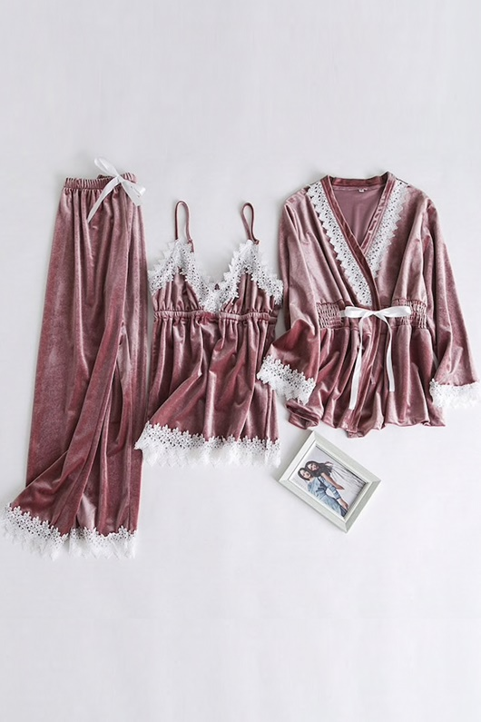 DM Pajamas Set - Nude Pink