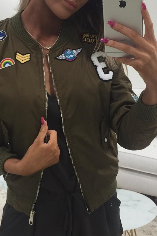DM Basic Patches Jacket - Army Green
