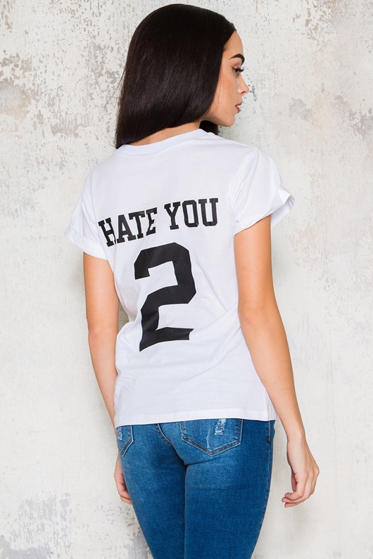 DM Hate You T-shirt - White