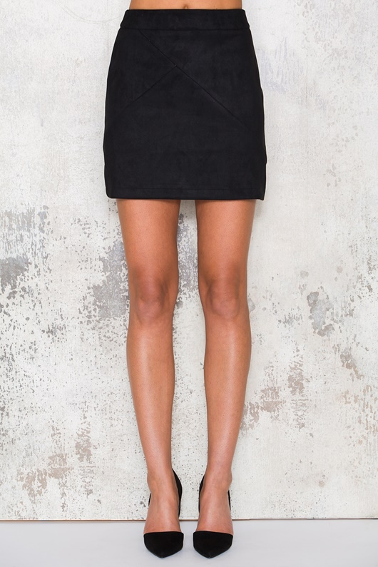 DM Basic Suede Skirt - Black