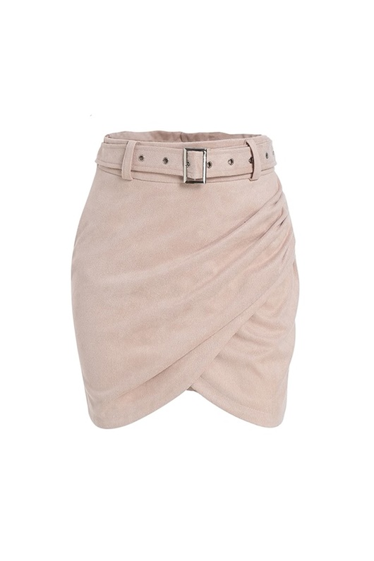 DM Skirt with suede effect - Wrap Suede