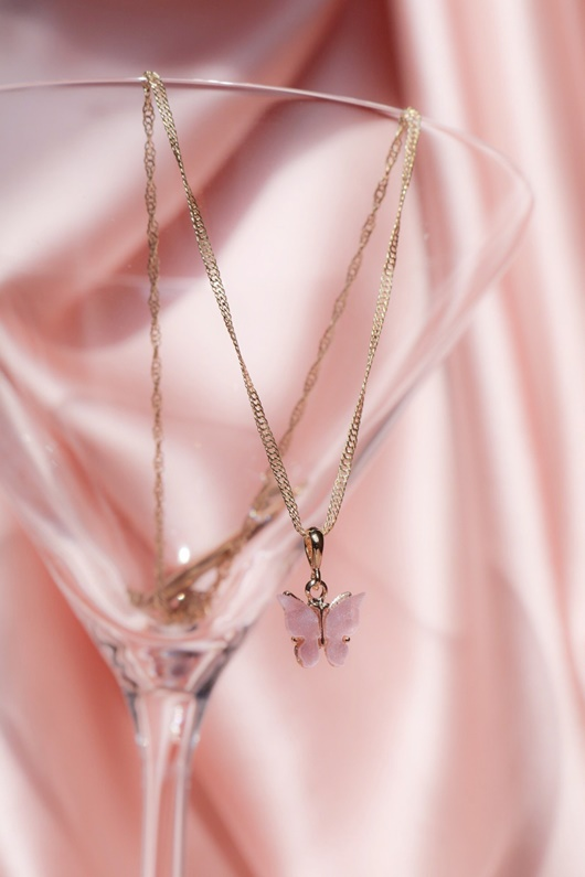 DM Butterfly Necklace - Blush