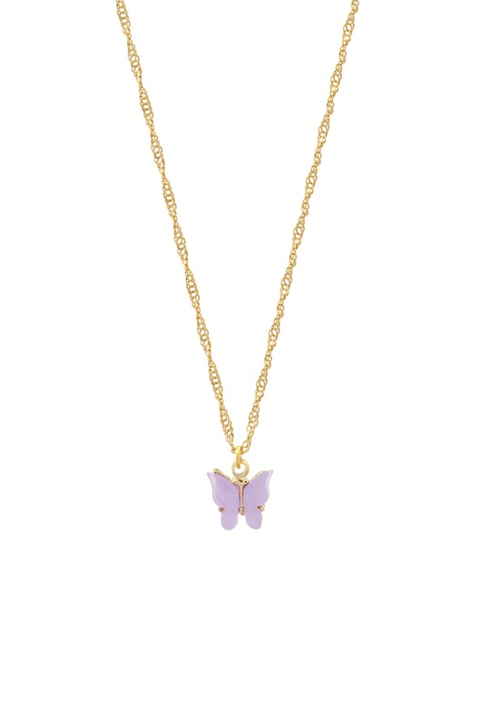 DM Butterfly Necklace - Lavender