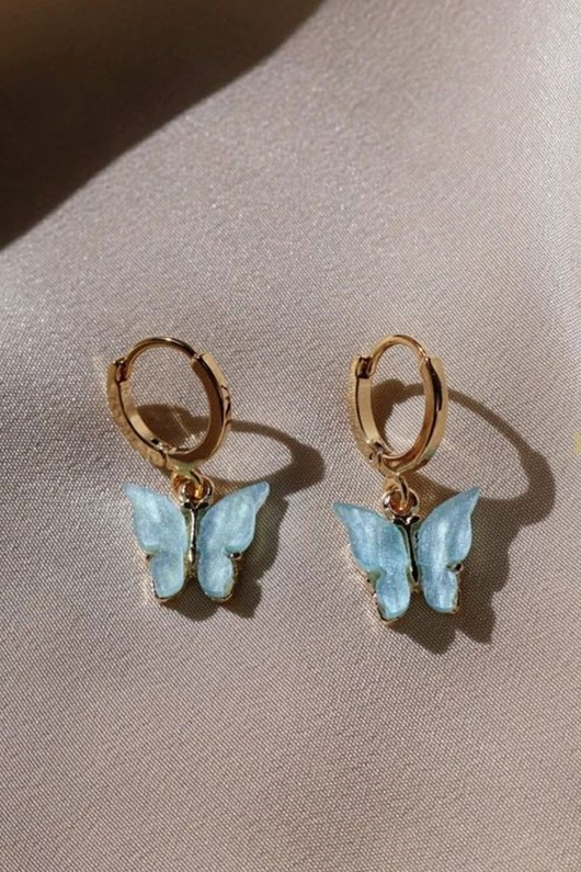 DM Butterfly Earrings - Sky
