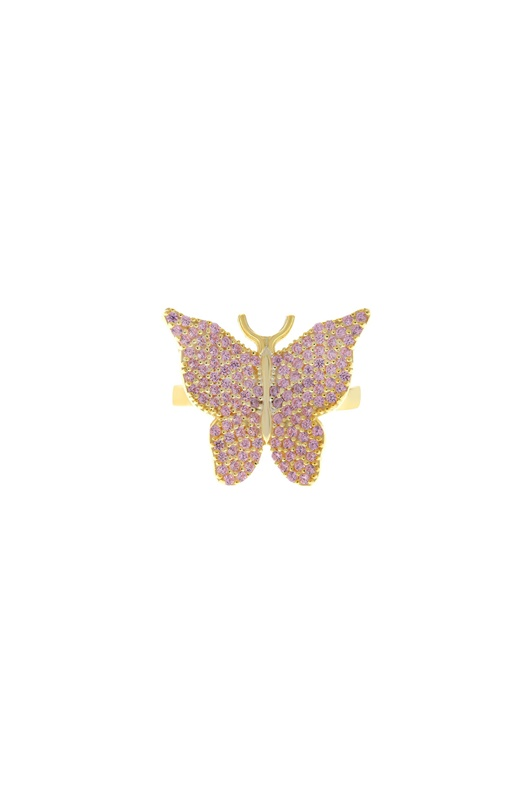 DM Butterfly Ring - Pink