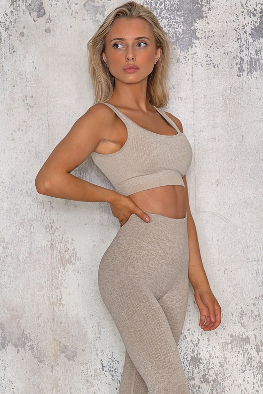 DM SPORT Ribbed Seamless Sports Top