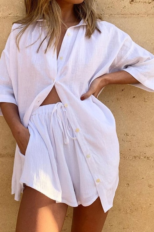 DM White two piece - Boyfriend